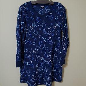 Fuzzy short fleece nightgown